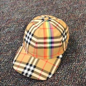 777bdbe0b44 Burberry Accessories - Nwot Burberry Rainbow Check Baseball Cap